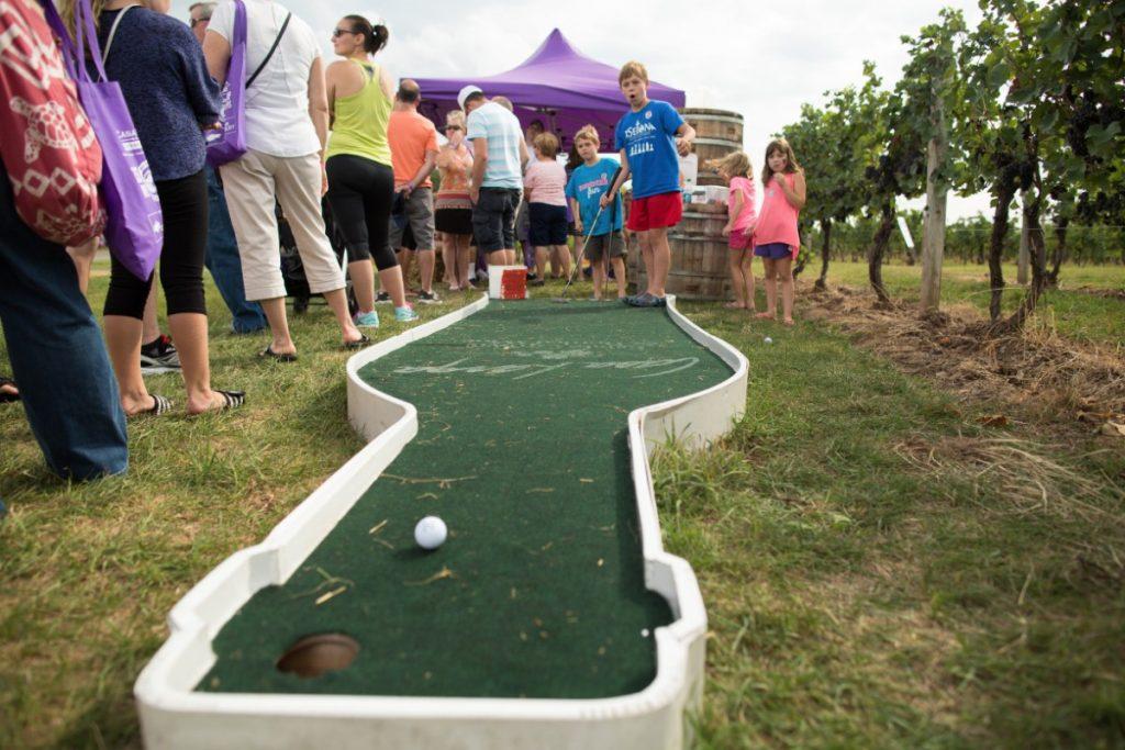 Mini golf, Purple Foot Festival at Casa Larga Vineyards