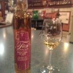 Bottle & Glass of Fiori Block 1 ice wine