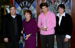 John, Andrea, Mary Jo and Mrs. C with Ice Wine Award
