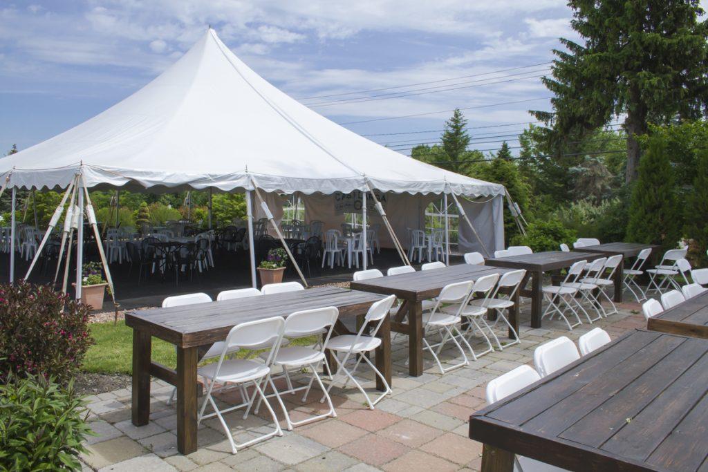 Patio Tent and Seating at Casa Larga Vineyards