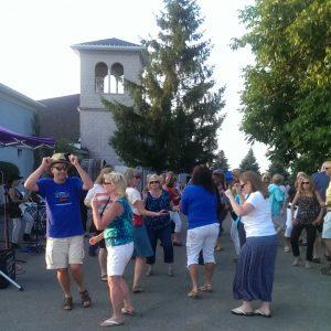 Dancing on the Patio at Patio Parties at Casa Larga Vineyards