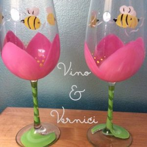 Flowers and Bees Glasses