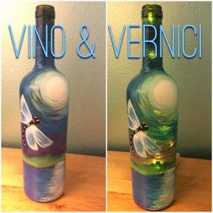 Dragonfly Wine Bottle