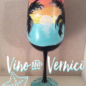 Sunset Wine Glasses