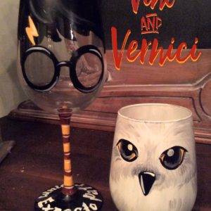 Harry and Hedwig Glasses for Sip and Paint Series at Casa Larga