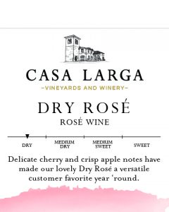 Dry Rosé Brand Kit Label Description, Dry, Delicate cherry and apple notes