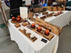 Candle holders, Carroll's Hilltop, Holiday Craft Marketplace at Casa Larga Vineyards