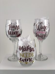 Handletter glassware, Gina DiFiore, Holiday Craft Marketplace at Casa Larga Vineyards
