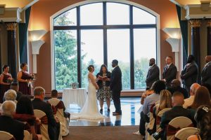 Couple, Wedding Ceremonies and Receptions at Casa Larga Vineyards