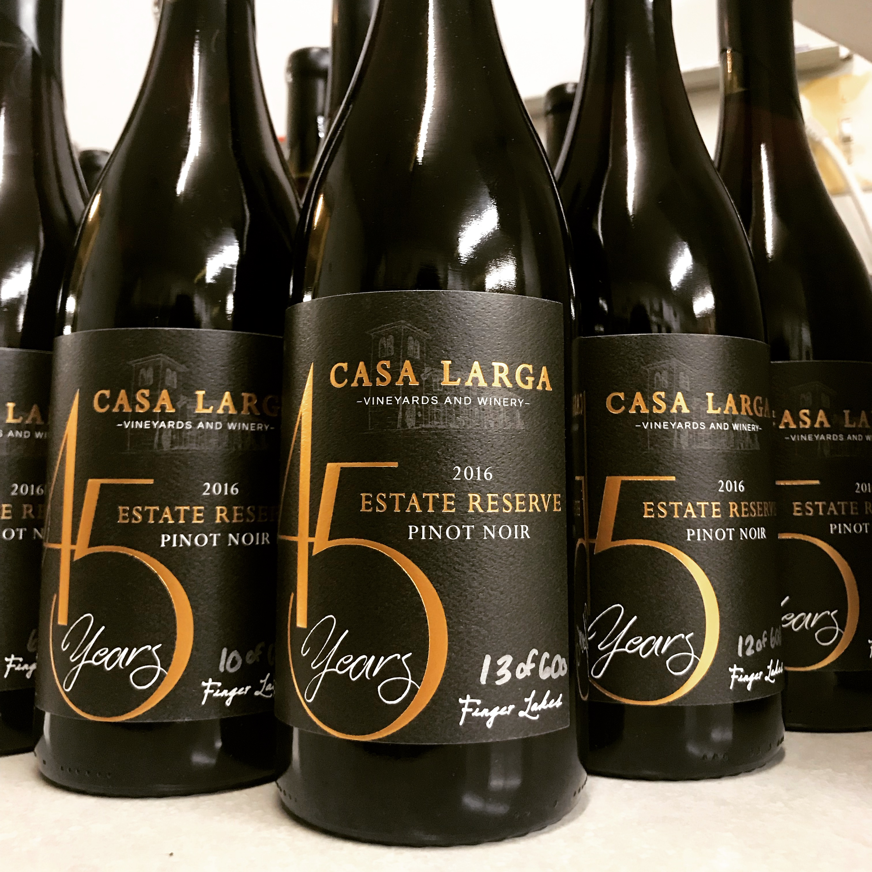 2016 Casa Larga Vineyards Estate Reserve Pinot Noir for Casa Larga Vineyards 45th Anniversary