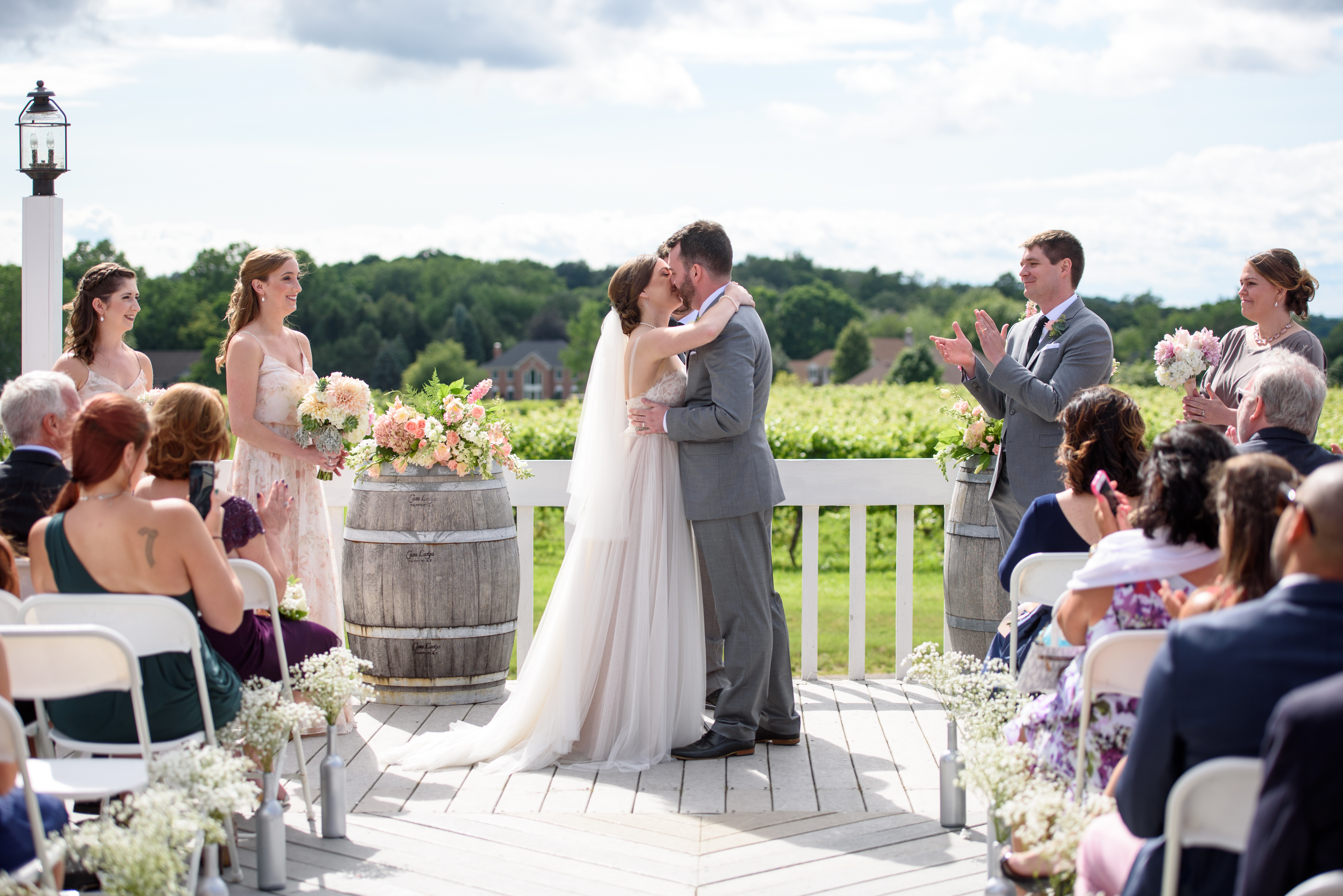 Wedding Ceremony on the Patio at Casa Larga Vineyards