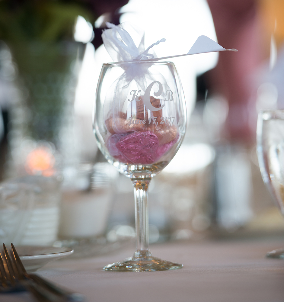Wedding Favor on Table at Casa Larga Vineyards