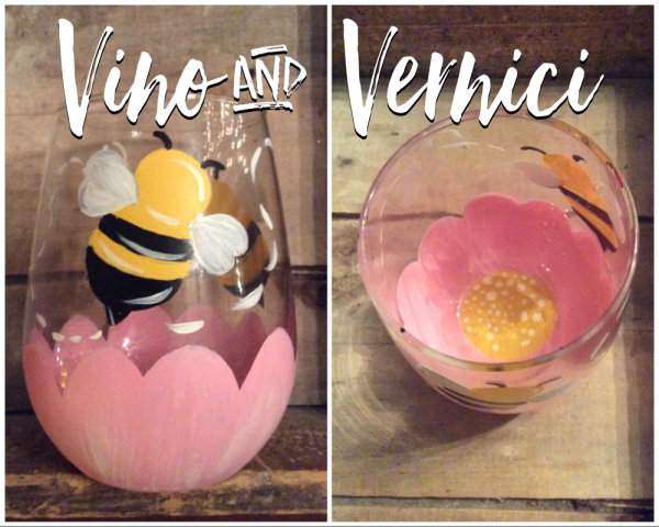 Bumblebee Stemless Glasses