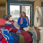 Infinity Scarf Vendor at Ice Wine and Culinary Festival at Casa Larga Vineyards