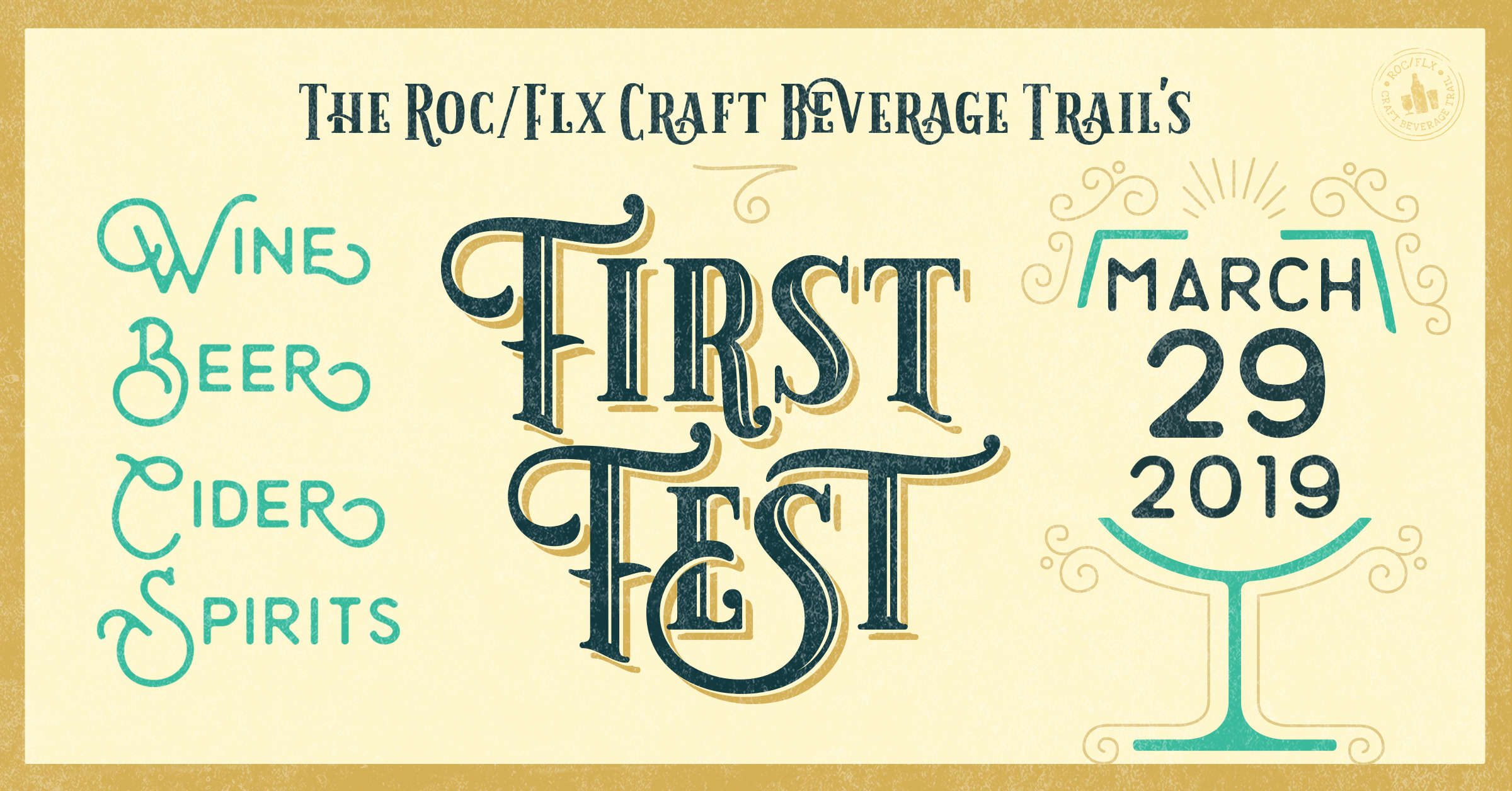 Rochester and Finger Lakes Craft Beverage Trail Advertisement for First Fest on March 29, 2019