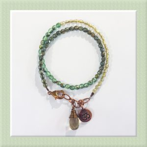 Garden Stroll Wrap Bracelet for Sip and Bead Series at Casa Larga Vineyards