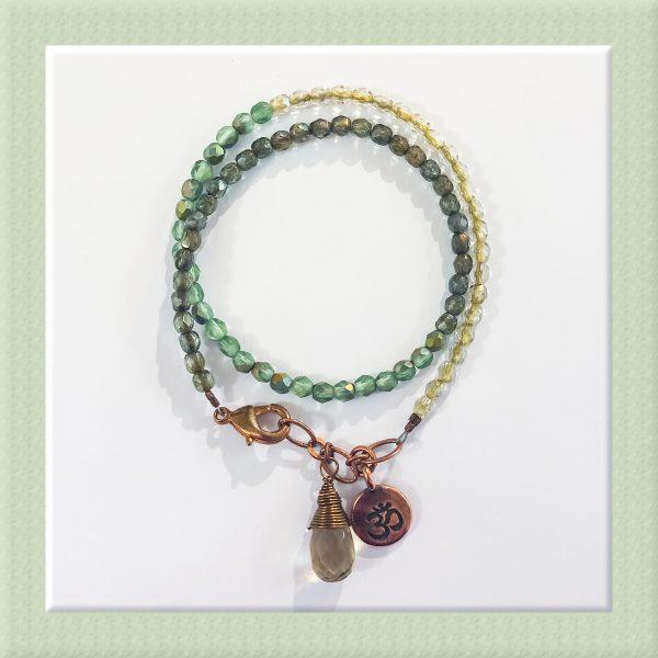 Garden Stroll Wrap Bracelet for Sip and Bead Series at Casa Larga Vineyards
