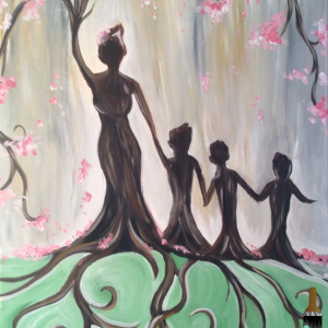 Mother's Day Canvas for Sip & Paint class at Casa Larga Vineyards