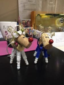 Cork Reindeer Ornaments Holiday Craft Marketplace 2019