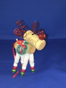 Single Cork Reindeer Ornaments Holiday Craft Marketplace