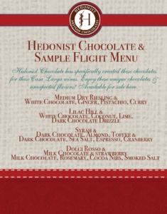Chocolate Sample Flight Menu (002)
