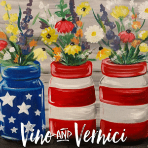 Patriotic Flower Canvas