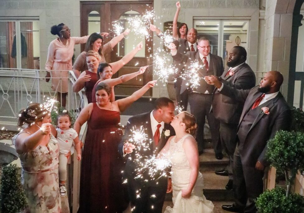 Bridal party and sparkler send off, Wedding Ceremonies and Receptions at Casa Larga Vineyards